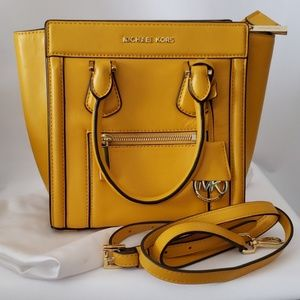Michael Kors Yellow Messenger Bag